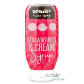 Beanies Epres ízű cukormentes desszertöntet 400 ml- Natur Reform