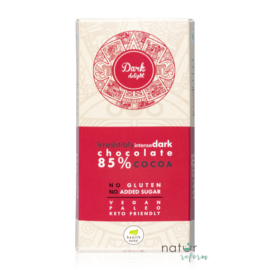 Health Market Dark Delight Étcsokoládé édesítőszerekkel 80 g
