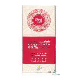 Health Market Dark Delight Étcsokoládé édesítőszerekkel (gluténmentes, vegán) 80 g – Natur Reform