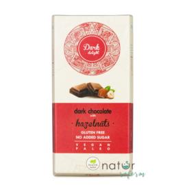 Health Market Dark Delight Étcsokoládé egész mogyoróval, édesítőszerekkel 80 g