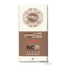Health Market Milkless Delight Kakaós tábla egész mogyoróval, édesítőszerrel 80 g