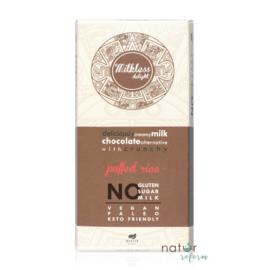 Health Market Milkless Delight Kakaós tábla puffasztott rizzsel, édesítőszerrel 80 g – Natur Reform