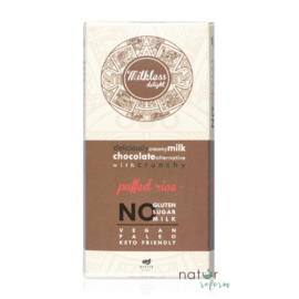 Health Market Milkless Delight Kakaós tábla puffasztott rizzsel, édesítőszerrel 80 g