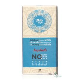 Health Market White Delight Fehér tábla egész mogyoróval, édesítőszerrel 80 g – Natur Reform