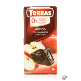 Torras Almás vegán étcsokoládé hozzáadott cukor nélkül (gluténmentes) 75 g
