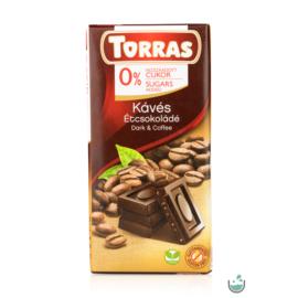 Torras Kávés vegán étcsokoládé hozzáadott cukor nélkül (gluténmentes) 75 g