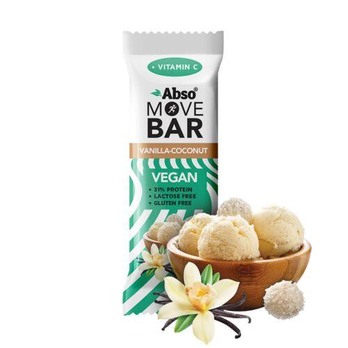 Abso MOVE BAR 35g - Vaníliás-kókuszgolyó ízű vegán fehérjeszelet