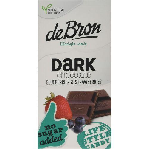 DeBron hozzáadott cukormentes táblás étcsokoládé áfonyával és eperrel 85 g