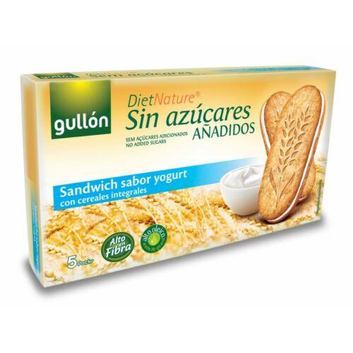 Gullón Joghurtos reggeli szendvicskeksz hozzáadott cukor nélkül 220 g