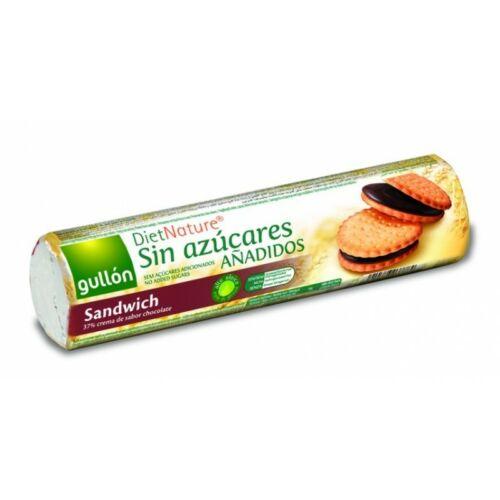 Gullón Kakaós krémmel töltött szendvicskeksz hozzáadott cukor nélkül 250 g