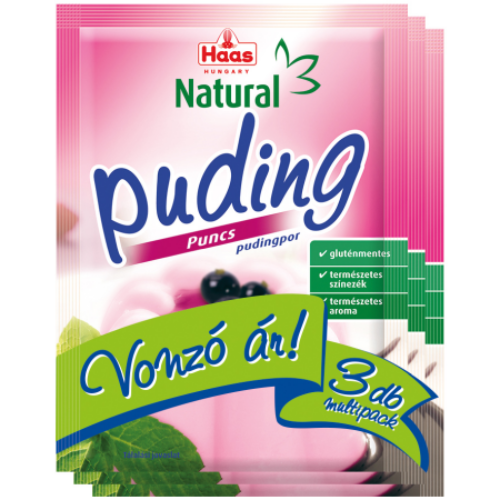 Haas Natural puncs pudingpor 3x40 g
