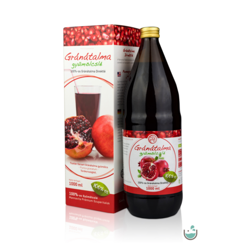 Mannavita Gránátalma gyümölcslé 100%-os, 1000 ml