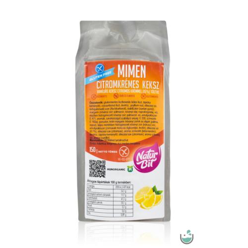 MiMen Citromkrémes keksz 150 g – Natur Reform