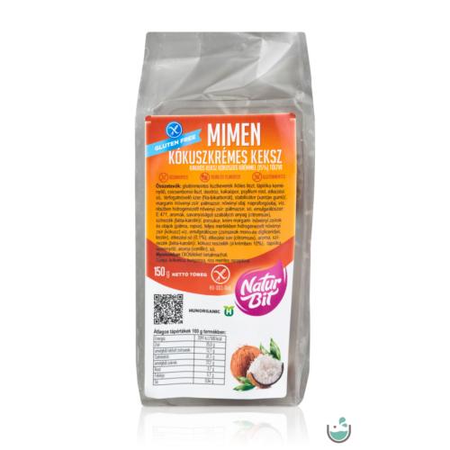 MiMen Kókuszkrémes keksz 150 g – Natur Reform