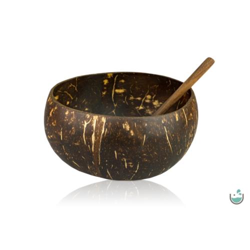 Jumbo kókusztál kanállal – sötétbarna – Natur Reform