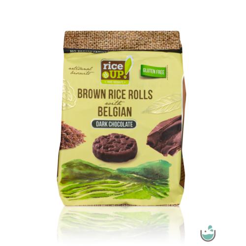 Rice UP! étcsokoládés barna rizs snack 50 g