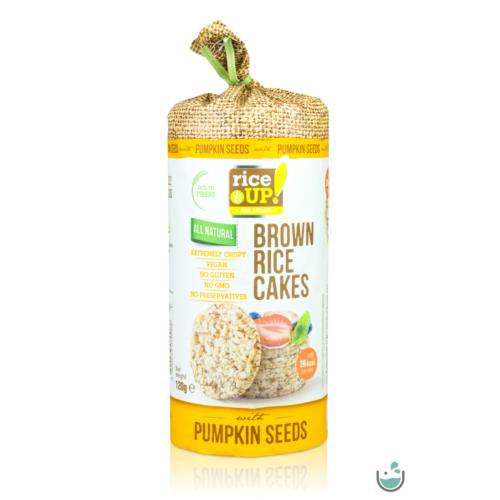 Rice UP! Puffasztott teljes kiőrlésű barna rizs szelet tökmaggal 120 g – Natur Reform