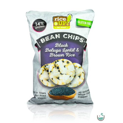Rice UP! proteines barna rizs chips fekete Beluga lencsével 60 g – Natur Reform