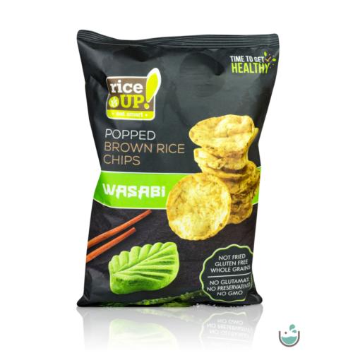 Rice UP! wasabi ízesítésű barna rizs chips 60 g – Natur Reform