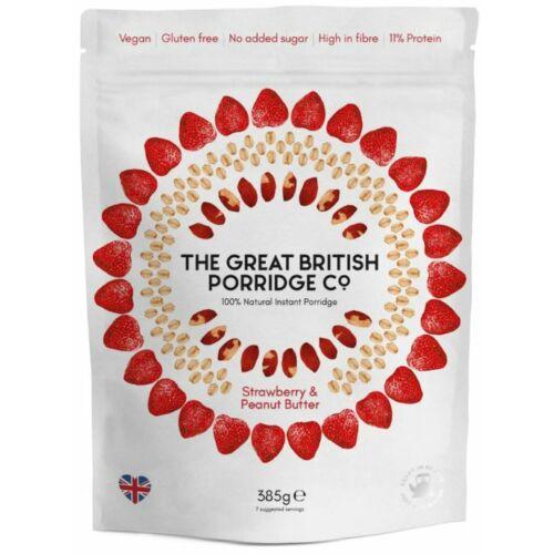 The Great British Porridge Eper & mogyoró ízű instant zabkása 385 g – Natur Reform
