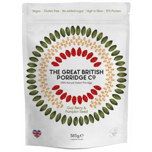 The Great British Porridge Eper & mogyoró ízű instant zabkása 385 g – Natur Reform