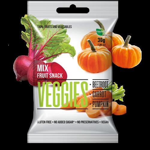 Veggies gyümölcs snack mix 30 g – Natur Reform