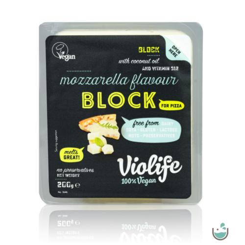 Violife mozzarella ízesítésű olvadós növényi sajt tömb pizzához 200 g – Natur Reform
