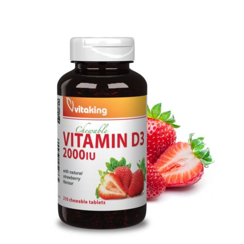 Vitaking Epres D3-Vitamin rágótabletta 2000NE – 210 db