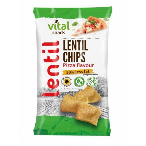 VitalSnack Lencse chips pizza ízű 65 g – Natur Reform