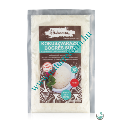 Éléskamra Kókuszvarázs bögrés süti szénhidrát csökkentett lisztkeverék 52 g – Natur Reform