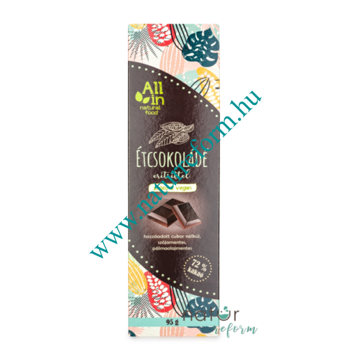 ALL IN natural food Étcsokoládé eritrittel 95 g - Natur Reform