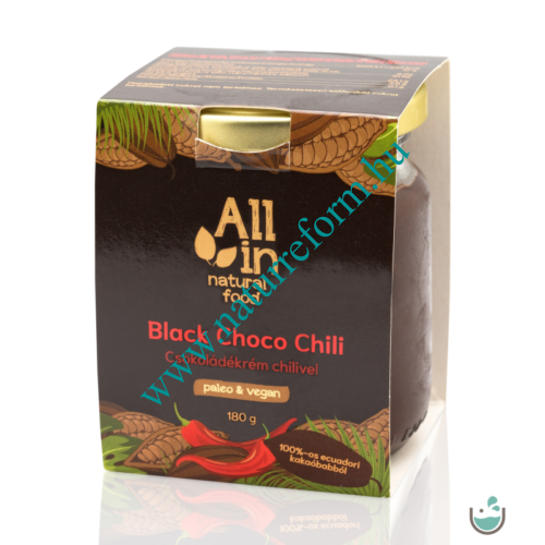 ALL IN natural food Black Choco Chili csokoládékrém chilivel 180 g – Natur Reform