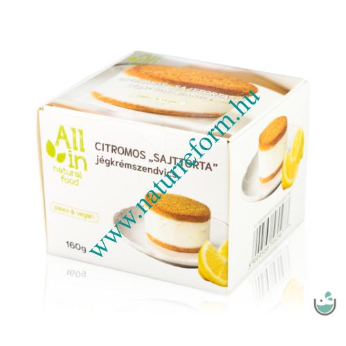 ALL IN natural food Citromos torta jégkrémszendvics 160 g
