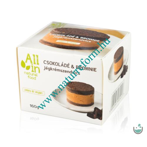 ALL IN natural food Csokoládé & Brownie jégkrémszendvics 160 g – Natur Reform