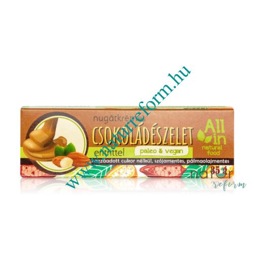 ALL IN natural food Nugátkrémes csokoládészelet eritrittel 35 g