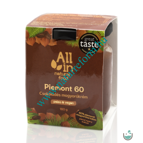 ALL IN natural food Piemont 60 Csokoládés Mogyorókrém 180 g – Natur Reform