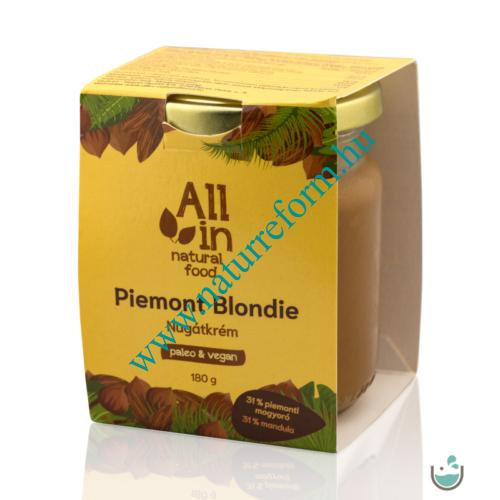 ALL IN natural food Piemont Blondie Mandulás Nugátkrém 180 g – Natur Reform
