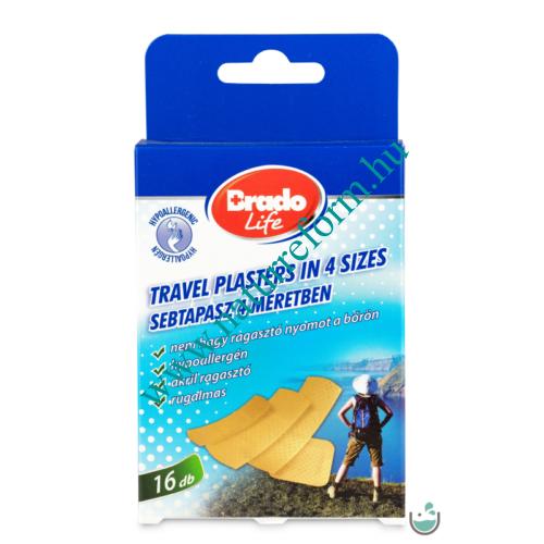 BradoLife Travel sebtapasz 4 méretben 16 db – Natur Reform