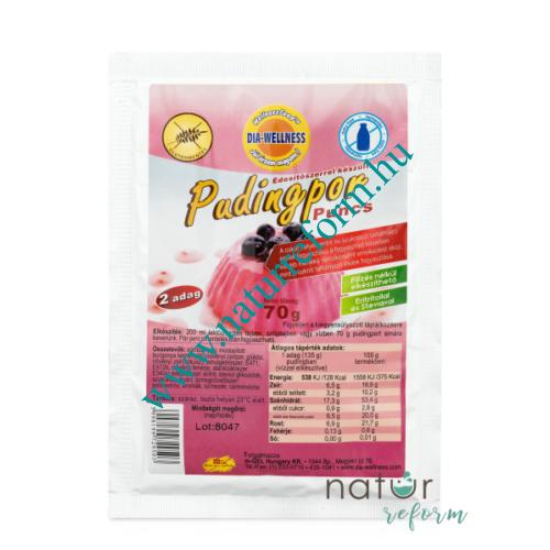 Dia-Wellness Puncs ízű pudingpor 70 g - Natur Reform