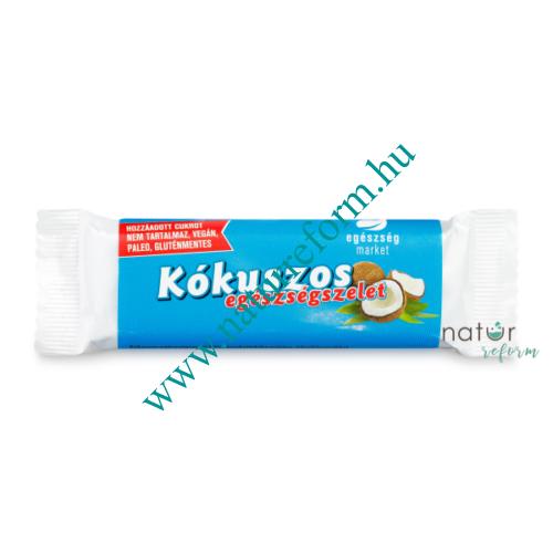 Health Market Kókuszos szelet étcsokoládéval mártva 30 g