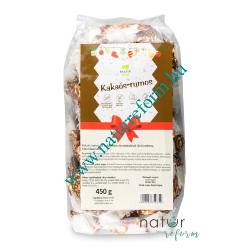 Health Market Kakaós-rumos vegán szaloncukor 450 g – Natur Reform