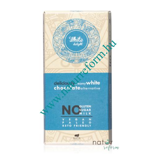 Health Market White Delight Fehér tábla édesítőszerrel 80 g – Natur Reform