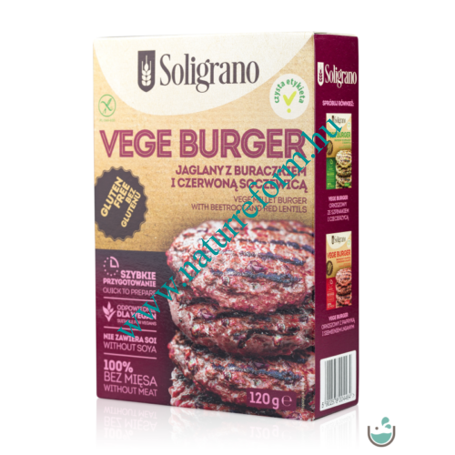 Soligrano Gluténmentes Vegán Burger Alappor 120 g – Natur Reform