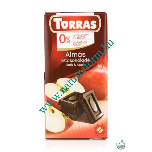 Torras Almás vegán étcsokoládé hozzáadott cukor nélkül 75 g – Natur Reform