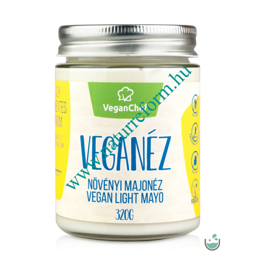 VeganChef Veganéz Light – gluténmentes növényi majonéz üveges 320 g – Natur Reform